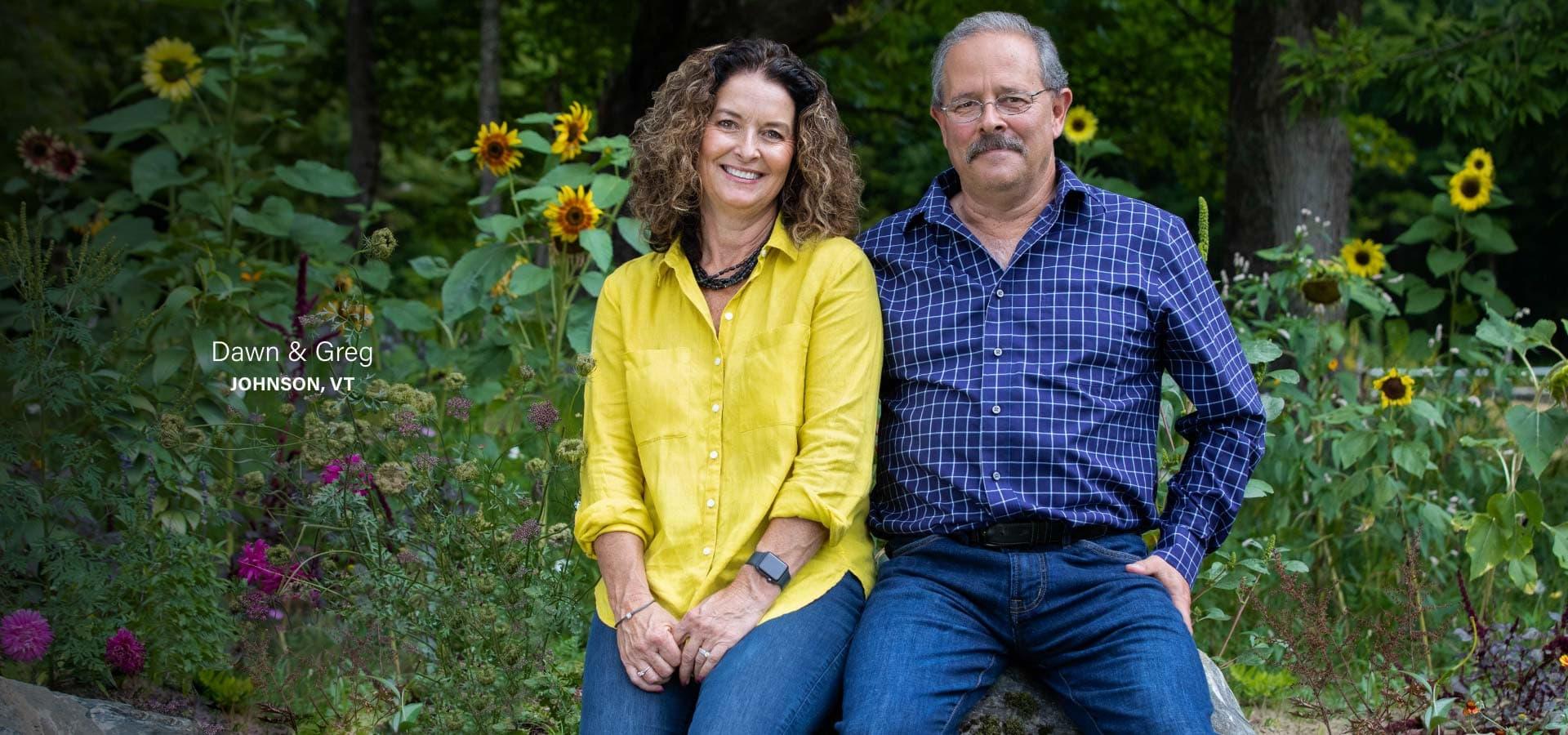 Dawn and Greg Johnson, VT