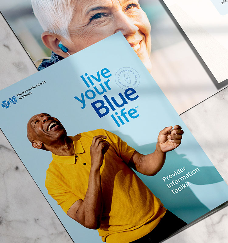 Live your Blue life print collateral