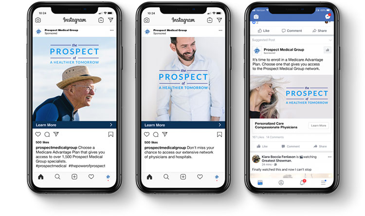 Prospect Medical social ads on mobile devices